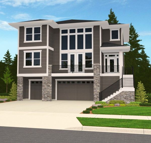 Modern House Plans With Tuck Under Garage - Vtwctr on house with drive under garage, house plans with deck, 2 level garage under garage, house plans with fireplace, house plans with large bedrooms, house plans with balconies, house plans with sunrooms, house plans with sauna,