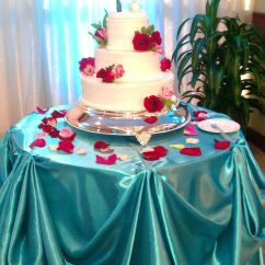 Tiffany Blue Wedding Chair Covers Weaving Rope Seats And Red Cake Table Draping Done By It 39s So