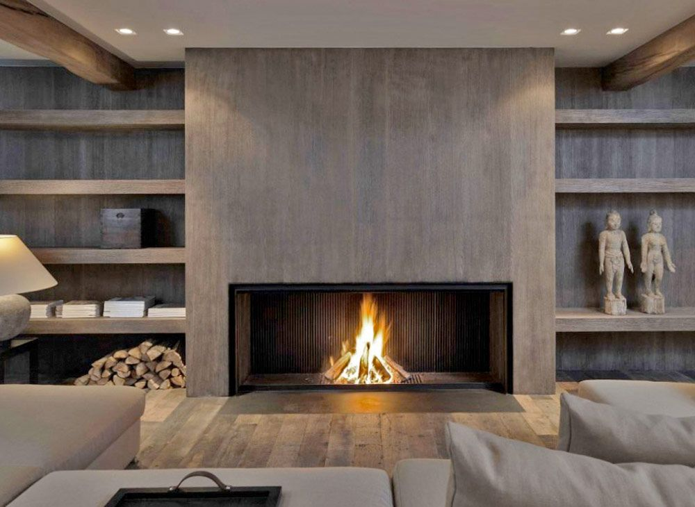 Metalfire fireplace with a modern wood look  By the