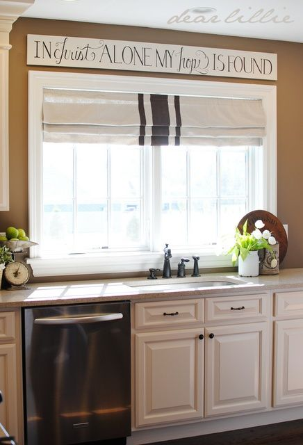 Love the sign above window in christ alone my hope is found house decor pinterest simple kitchen cabinets and french vanilla also rh