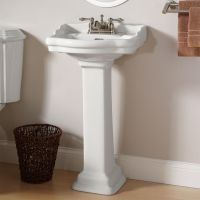 Stanford Mini Pedestal Sink - The bathroom in our tiny ...