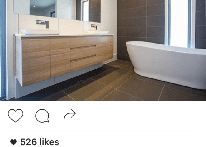 Grey tiles and timber vanity also bathroom inspo pinterest