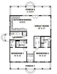 This cottage design floor plan is sq ft and has bedrooms bathrooms also tiny houses house blueprint cob building pinterest rh