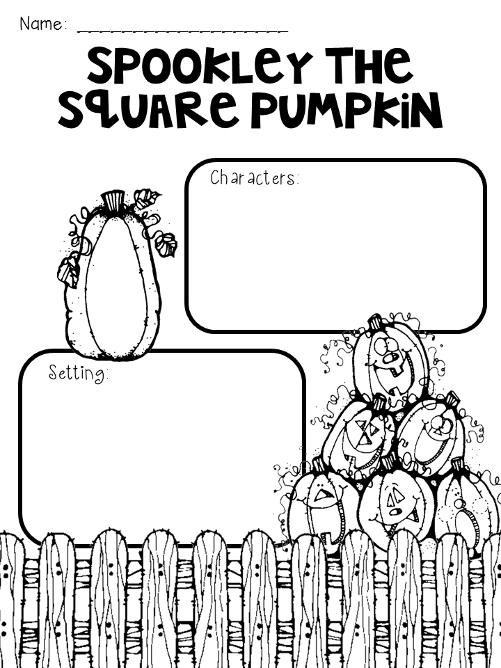 Spookley the Square Pumpkin Graphic Organizer freebie