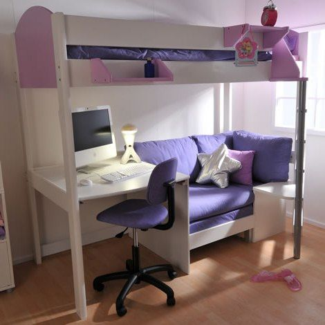 loft bed with desk and futon chair cute hanging chairs for bedrooms couch | bedroom ideas pinterest lofts, desks