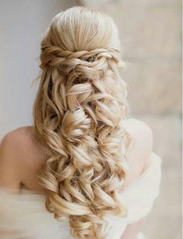 35 Pretty Half Updo Wedding Hairstyles Weddingomania Sweet 16