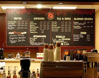 This Is A Brilliant Menu Coffee Shop Decor Pinterest Coffee