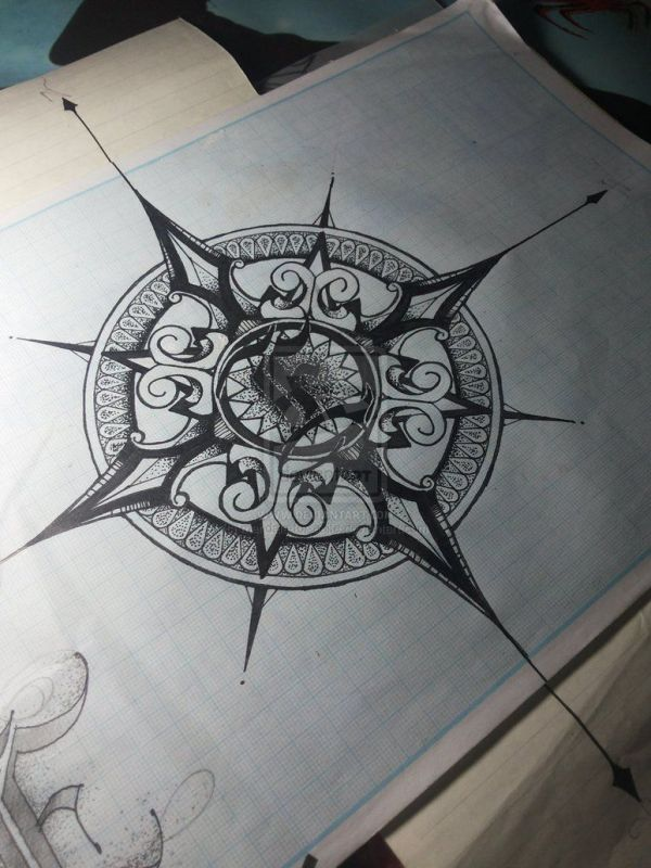 20 Vintage Compass Tattoos Tumblr Ideas And Designs