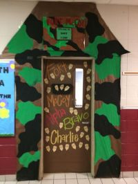 Army themed school door/wall decoration