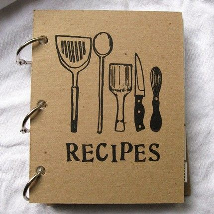 Recipe Book Covers on Pinterest  Recipe Scrapbook Family Recipe Book and Homemade Recipe Books
