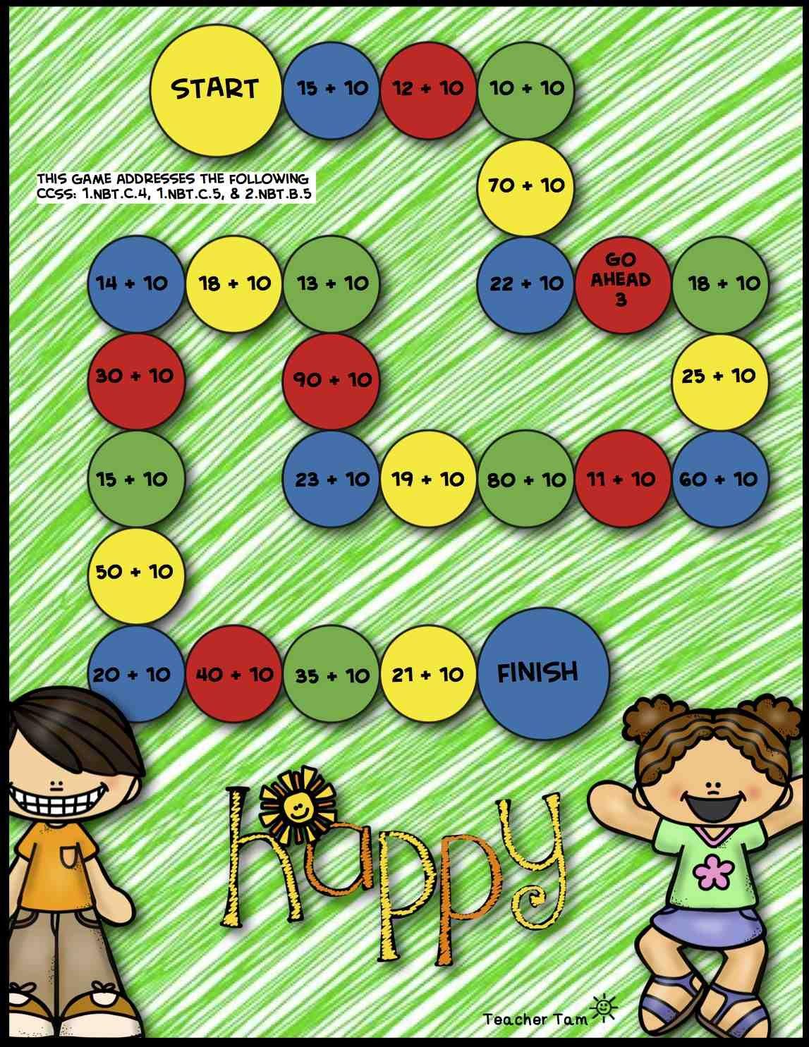 Powers Of 10 Math Face Off 5 Nbt 2