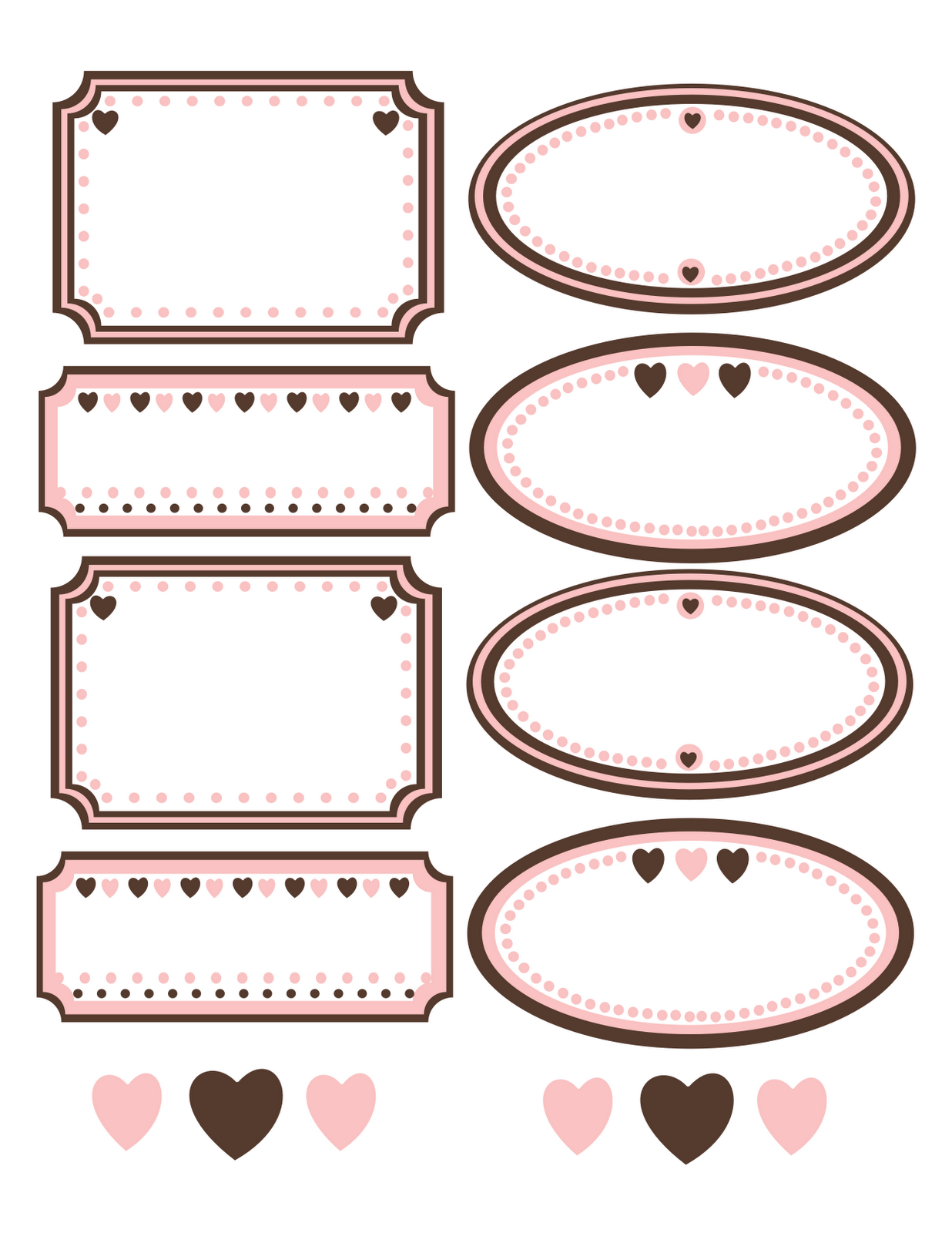 Cute Pink Labels