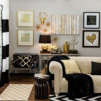 Bring home big-city #style with metallic gold and black # ...