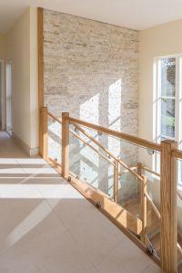 Beautiful hallway, stairs and landing. Cream quartzite