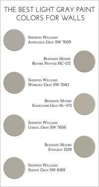 The Best Light Gray Paint Colors for Walls | Light grey ...