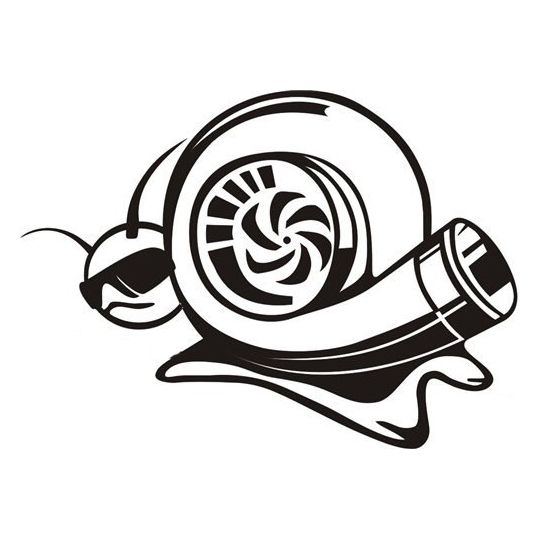 Car decal DUB JDM funny cool turbo snail 14cm x 10cm
