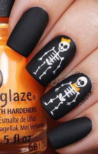 50 Cool Halloween Nail Art Ideas | Diseos de uas ...