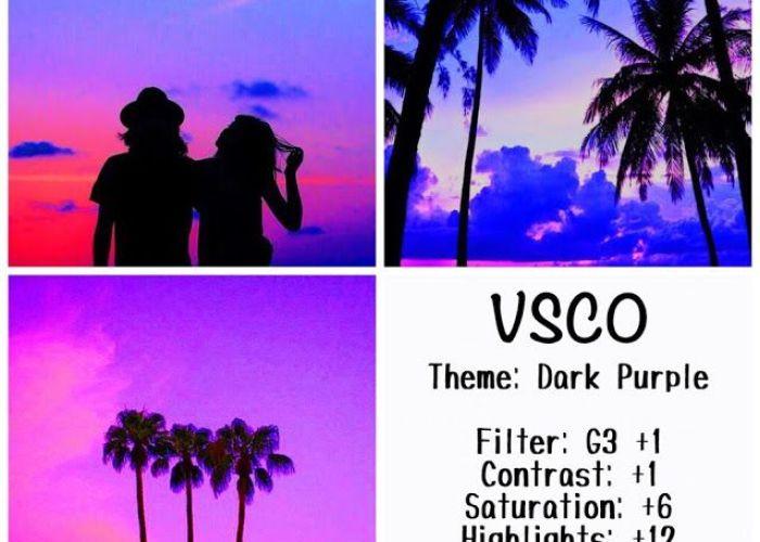 Dark purple instagram feed using vsco filter  also editing es
