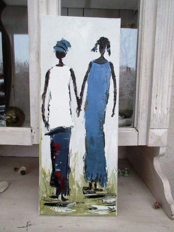 Jardin De Femmes 2 Peinture Figurative L