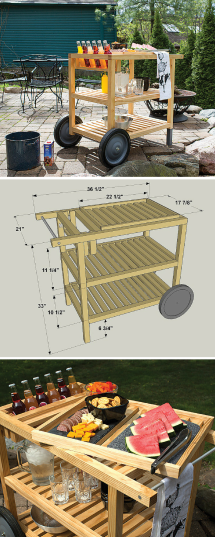 Build Diy Outdoor Serving Cart Free Printable