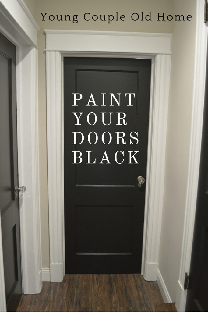 Paint It Black! Bold, black paint can turn any entrance