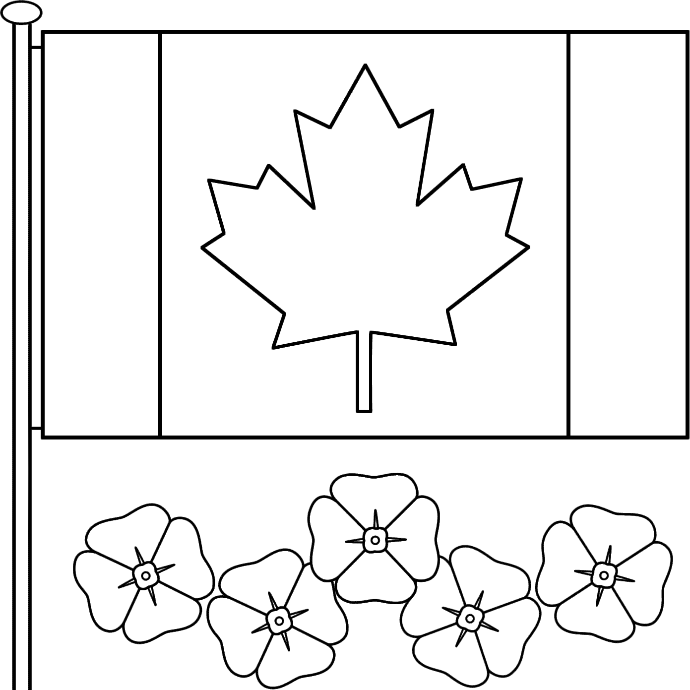 Remembrance Day Canada Colouring Pages