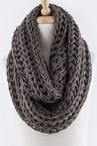 Snow Drift Knit Infinity Scarf - Grey | Wish List ...