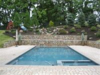 landscaping with stone | Pool Deck With Stone Retaining ...