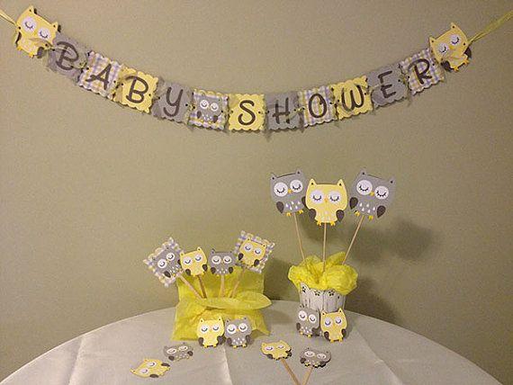 Owl Grey And Shower Yellow Baby