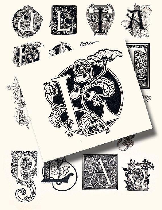 german art nouveau letters....instant by artdeco on Etsy