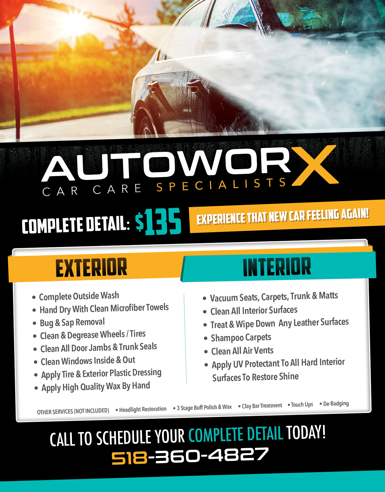 AutoworX #auto #detailing #flyer #print #advertising #car