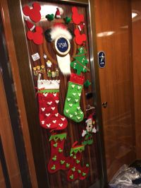 My Disney cruise Christmas door decorations. Fish