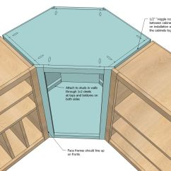 Building Kitchen Wall Cabinets Can Lights In Ana White Build A Corner Cabinet Free And