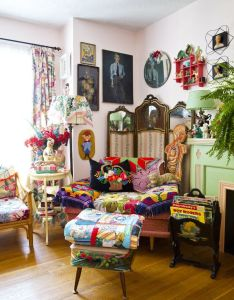 House also  visual feast living with textiles pinterest yellow houses rh