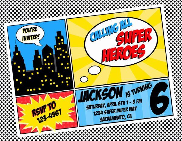 Free Superhero Invitation Templates Invitation Templates