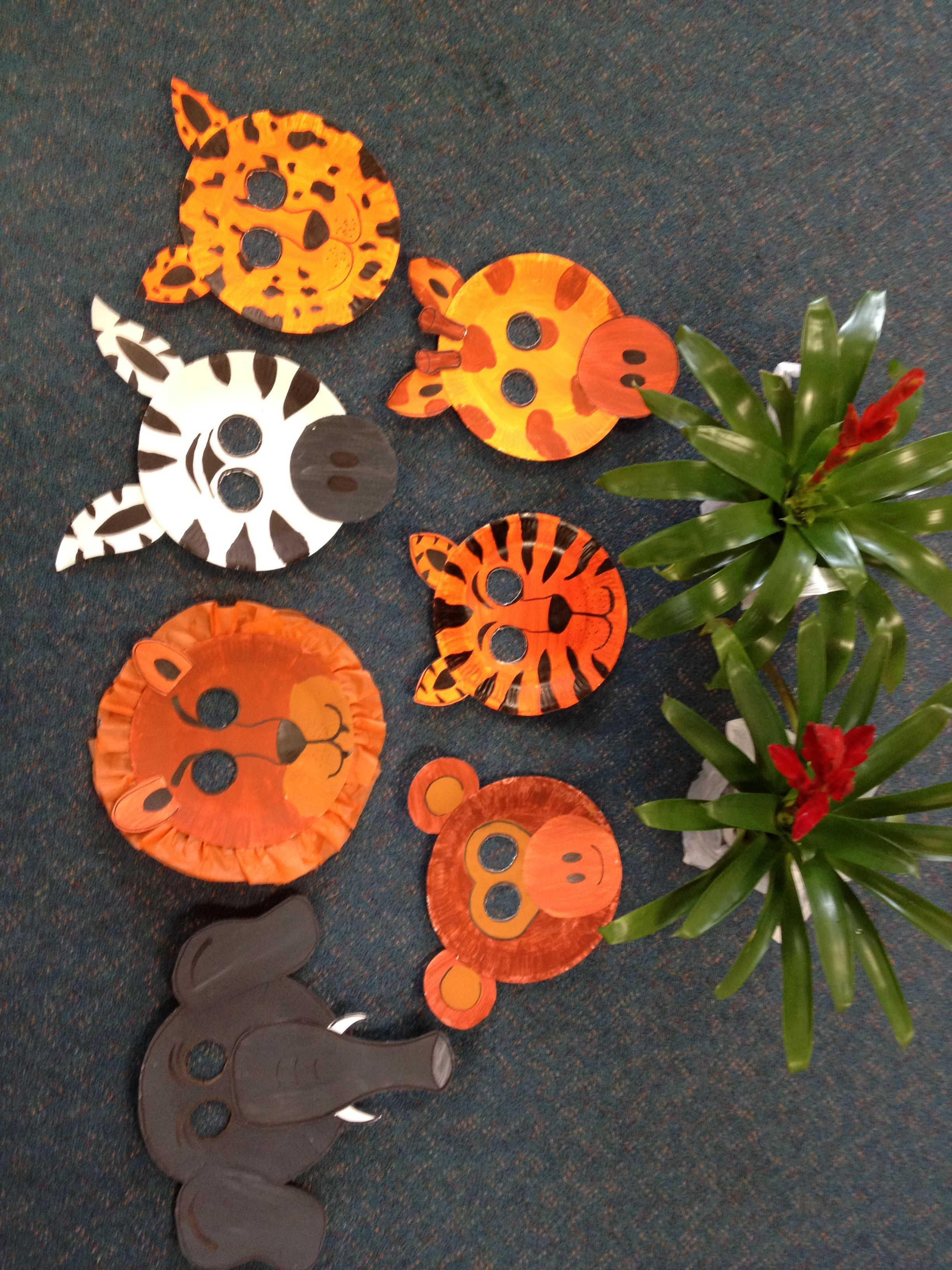Safari Animal Masks With Paper Plates