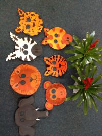 Safari Animal Masks... With paper plates | Classroom art ...