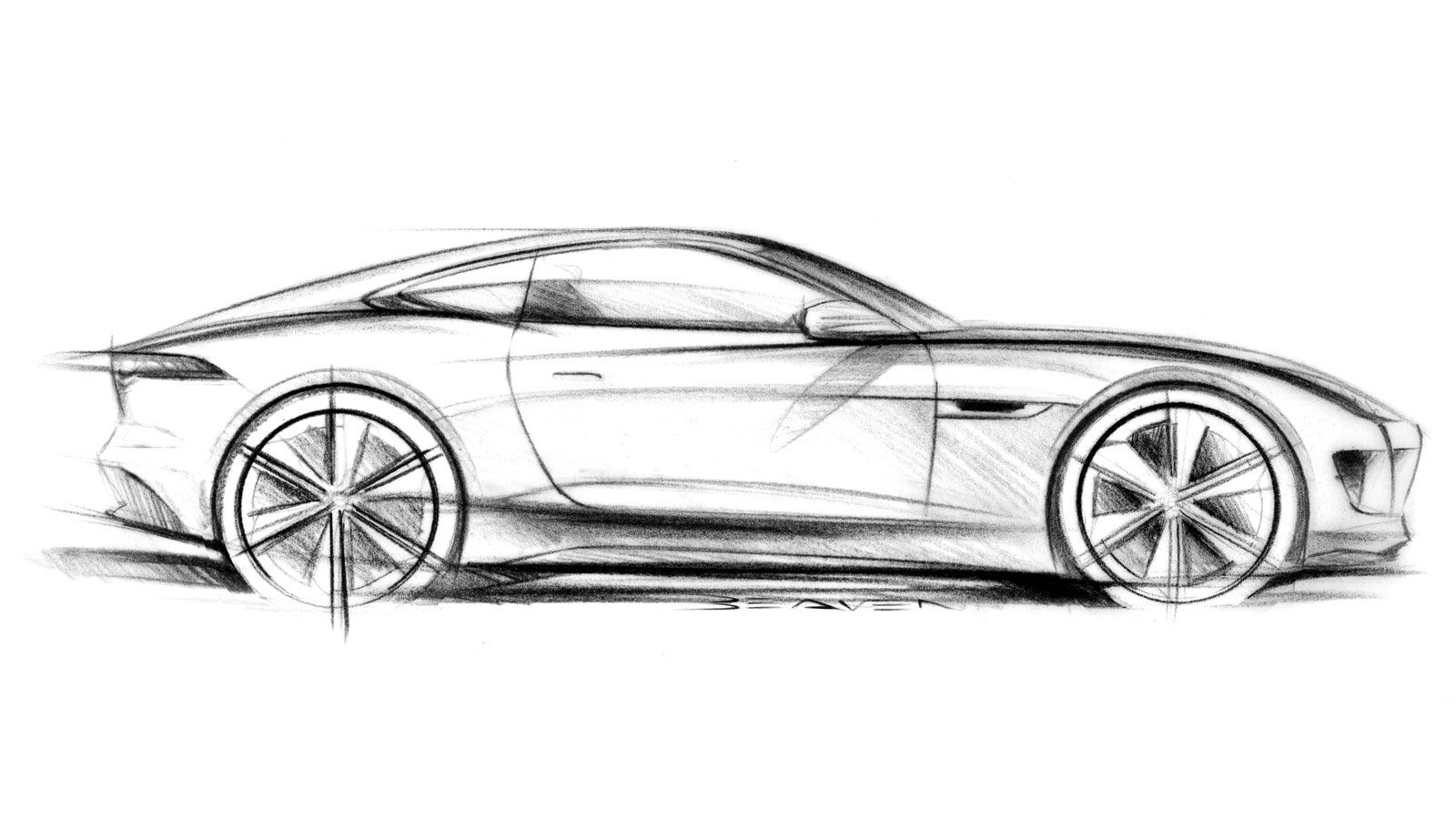 Jaguar C X16 Concept Design Sketch 2 900