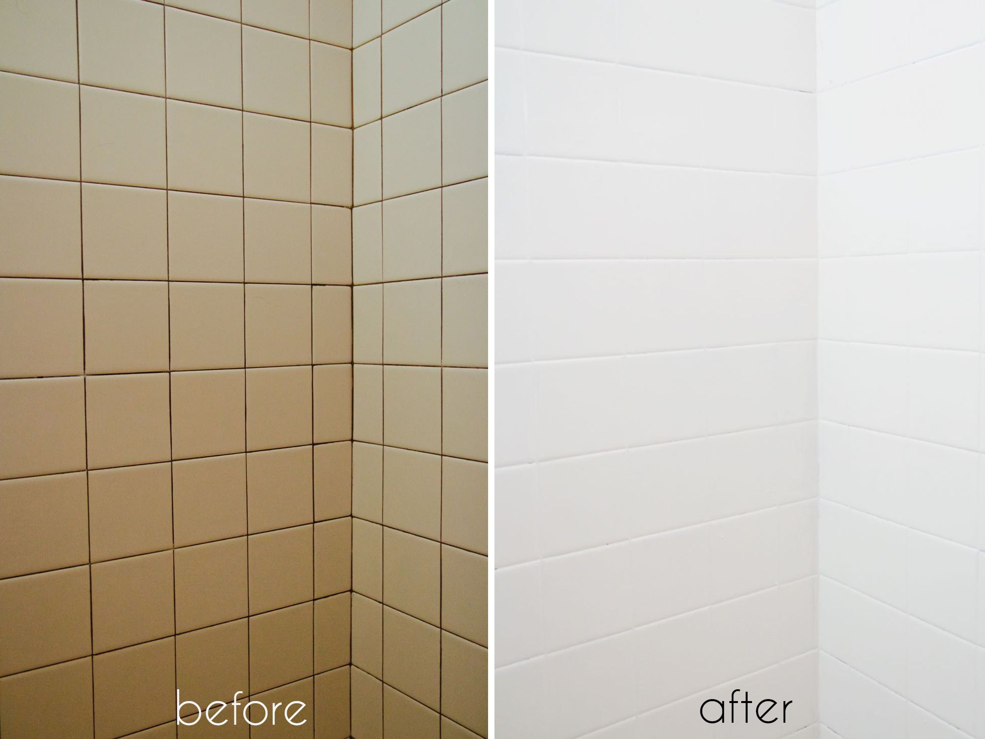 how to instantly modernize ugly, dated tile using epoxy paint