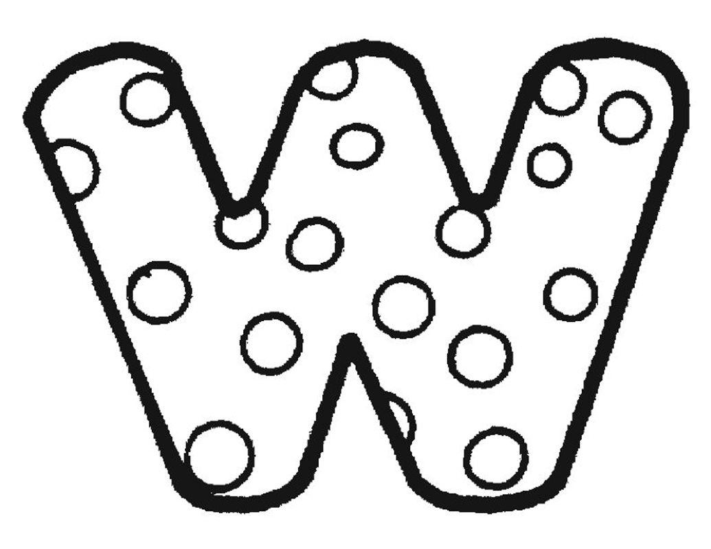 Alphabet Dot To Color Alphabet Dot Coloring Pages W