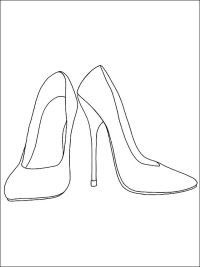 Heels coloring and printable page | Coloring pages ...