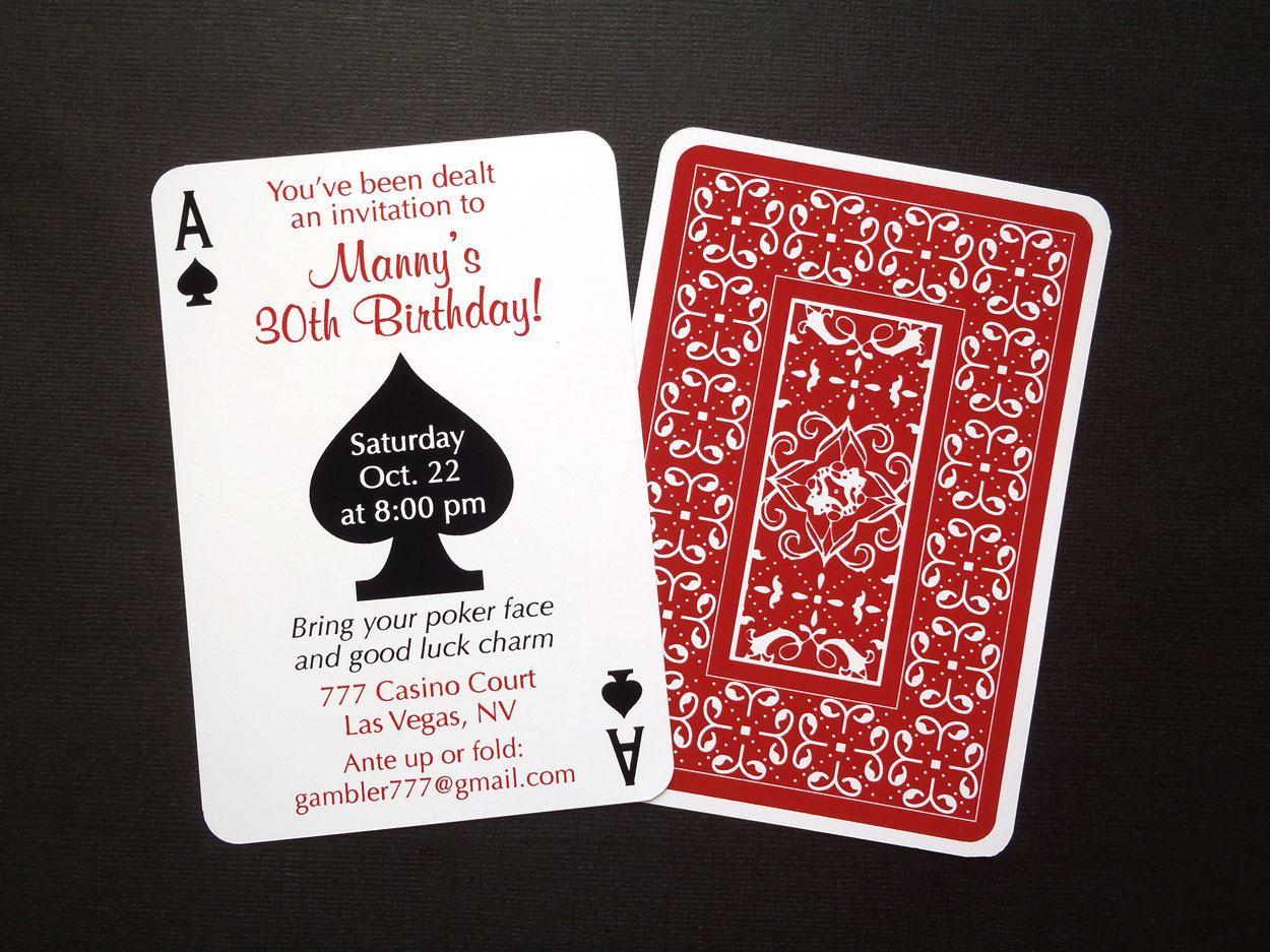 Las Vegas Themed Invitations Blank