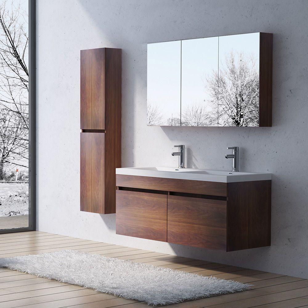 Design Badmbel Badezimmermbel Badezimmer Waschbecken Waschtisch Set BOTANICA in Mbel  Wohnen Mbel Badmbelsets  eBay  Bad oben