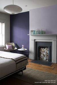 Perfectly Purple Bedroom! Wall Color: Dark Lilac - Accent ...