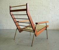 Rob parry mid-century modern wood and metal lounge chair ...