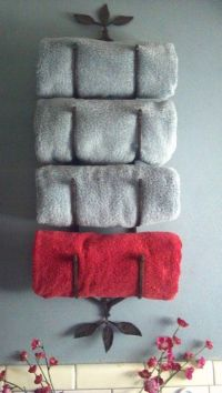 wine rack towel holder | Things I've tried from Pinterest ...