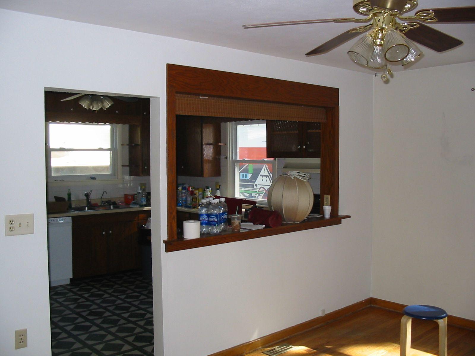 pass through kitchen window backsplash ideas for add some molding around to polish