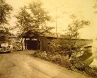 Hillsgrove Covered Bridge, Sullivan County Pa. The date of ...