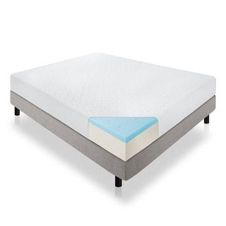 For Lucid 10 Inch Queen Size Plush Gel Memory Foam Antimicrobial Mattress