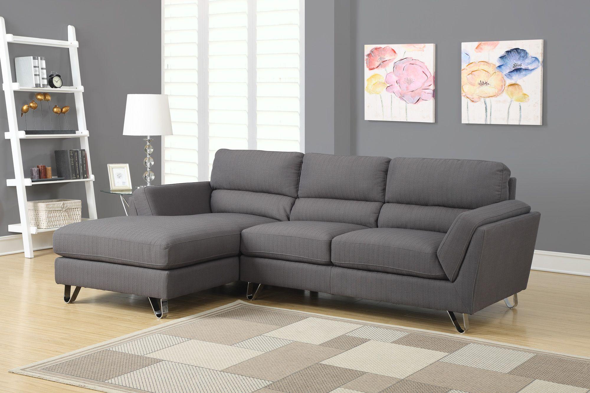 Sofa De Repos En Tissu Gris Fonc Charcoal Gray Linen